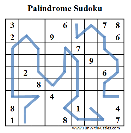 Palindrome Sudoku (Daily Sudoku League #45)