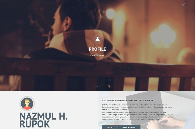 Privado - Interactive Resume & Portfolio Template