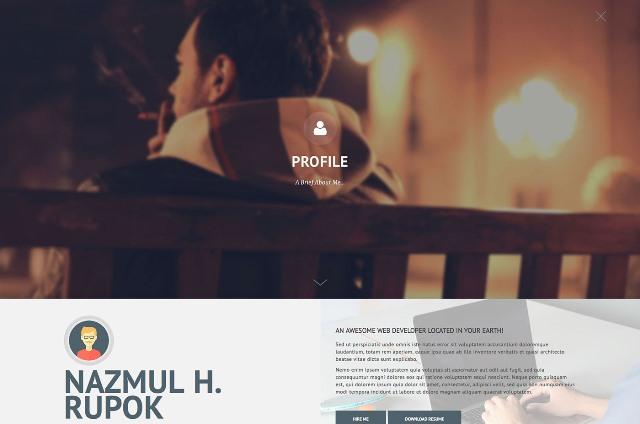 Privado - Interactive Resume & Portfolio Template