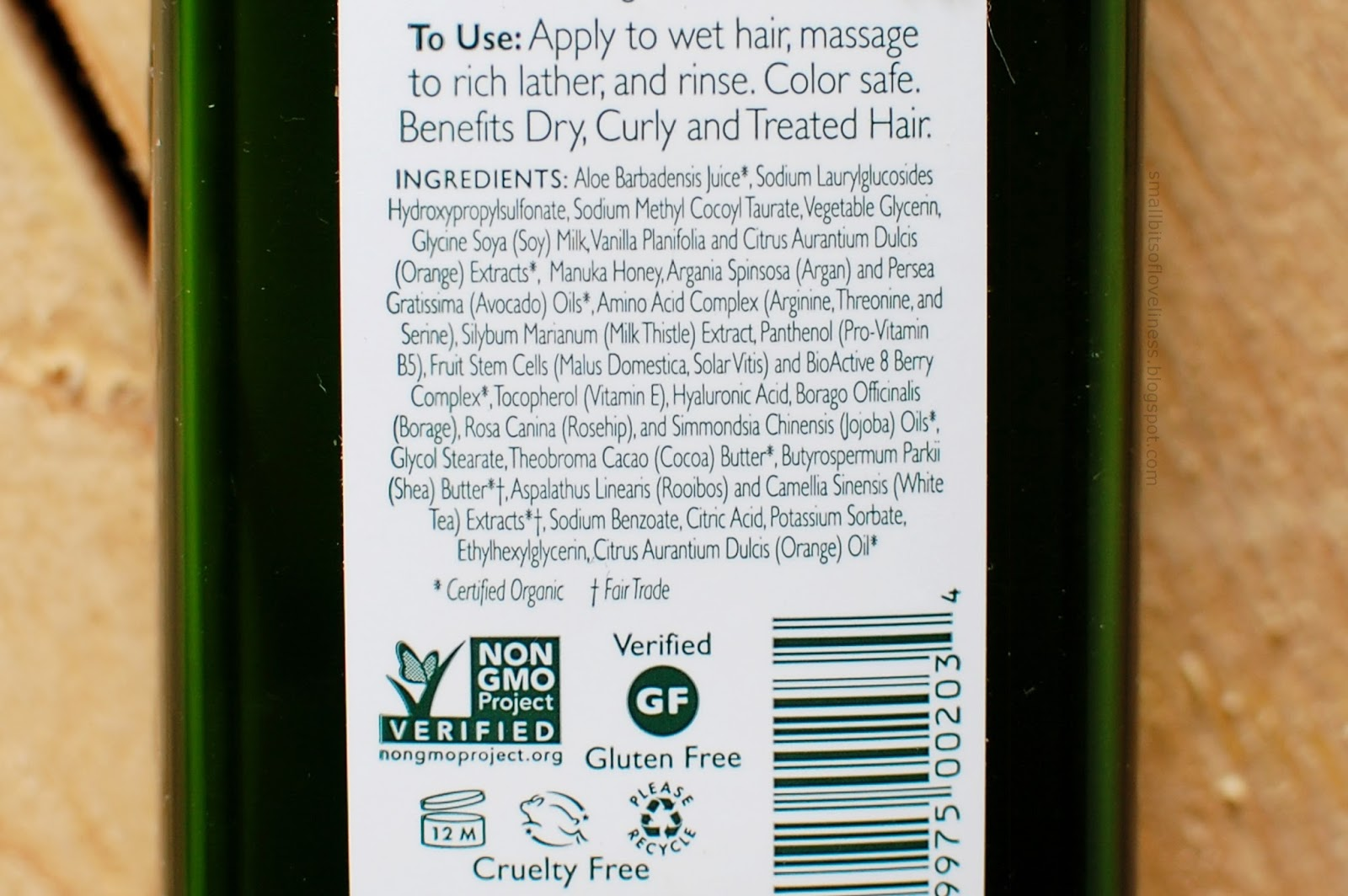 Andalou Naturals Argan & Sweet Orange Shampoo ingredients