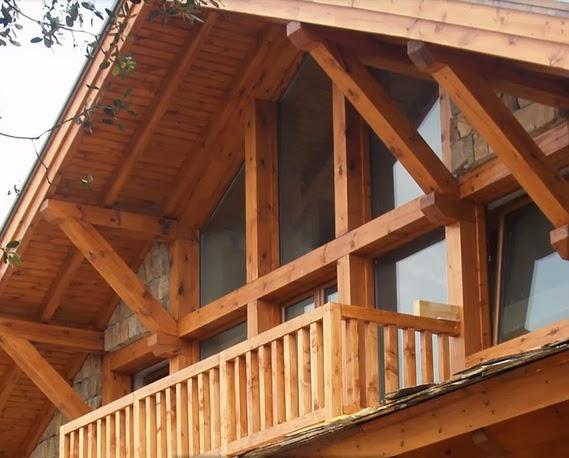 Fachadas de piedra fachada rustica de piedra y madera - Casa de madera rustica ...