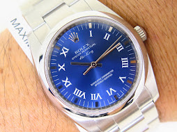 ROLEX OYSTER PERPETUAL AIRKING SUNBURST BLUE DIAL - ROLEX 114200 - FULLSET BOX AND PAPERS-MINT COND