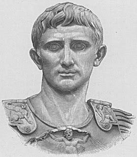 Retrato de Octaviano Augusto de Roma detalle de la famosa estatua de Prima Porta.