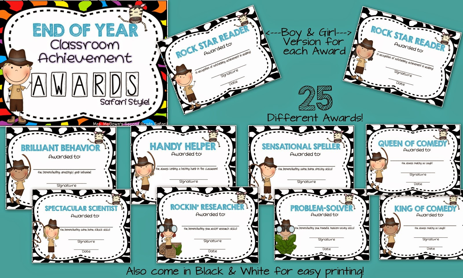 Classroom Award Ideas Elementary ~ Mrs megown s second grade safari end of the year
