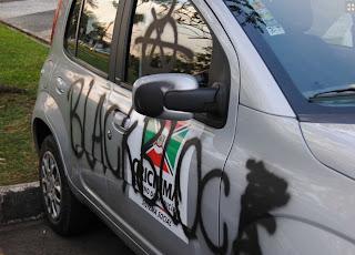 VANDALISMO EM PROTESTO DO DIA 7 (FOTO)