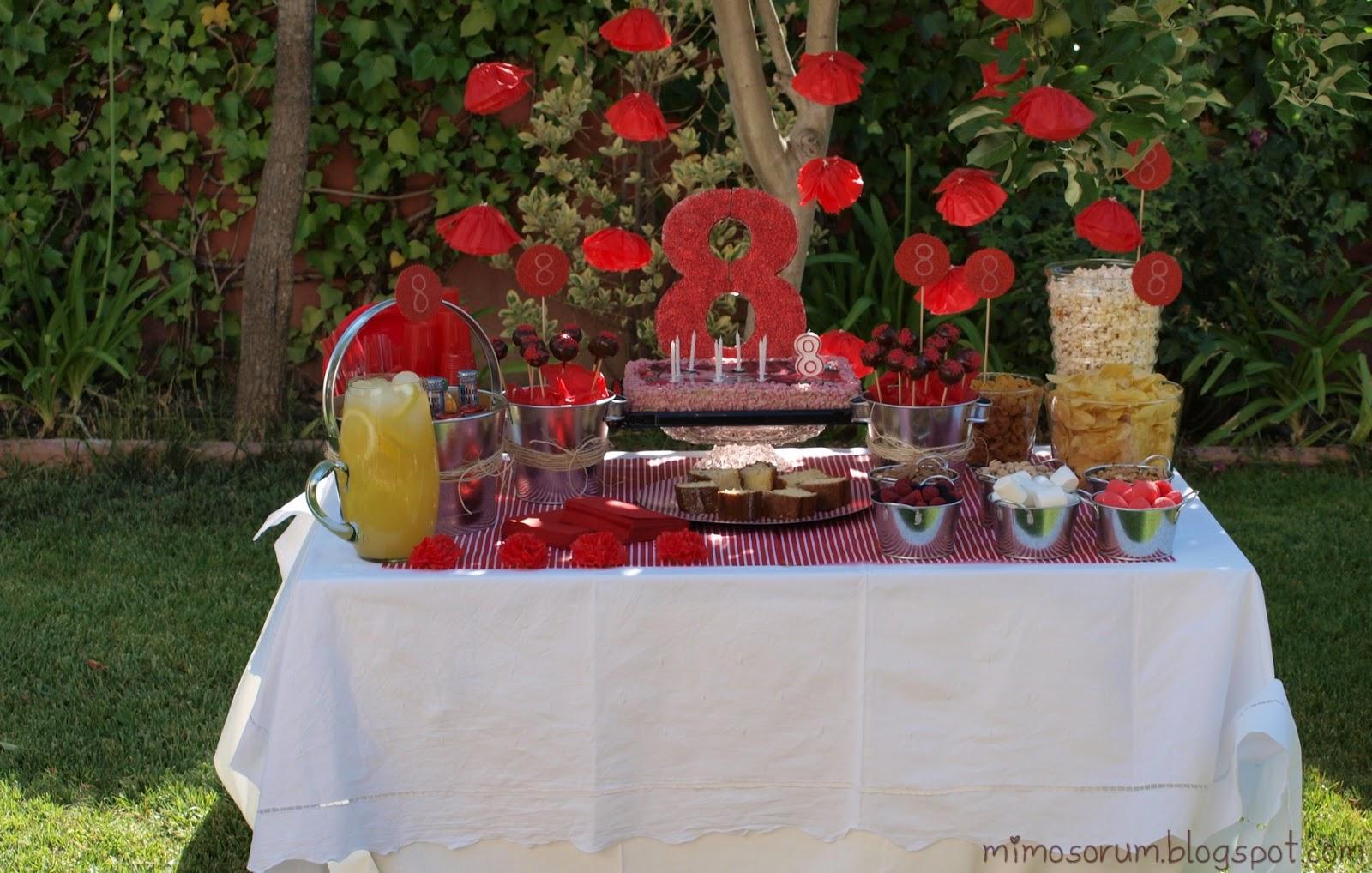 Mimosorum fiesta de cumplea os r stica y en rojo - Decoracion para el jardin ...