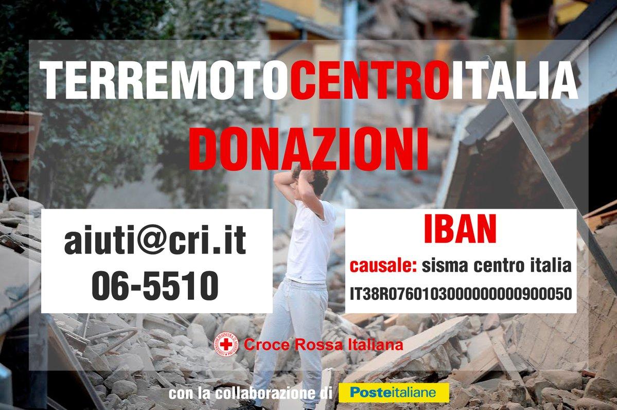 Donazioni terremoto