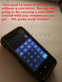 Funny joke - calculator and 4th grade math teacher