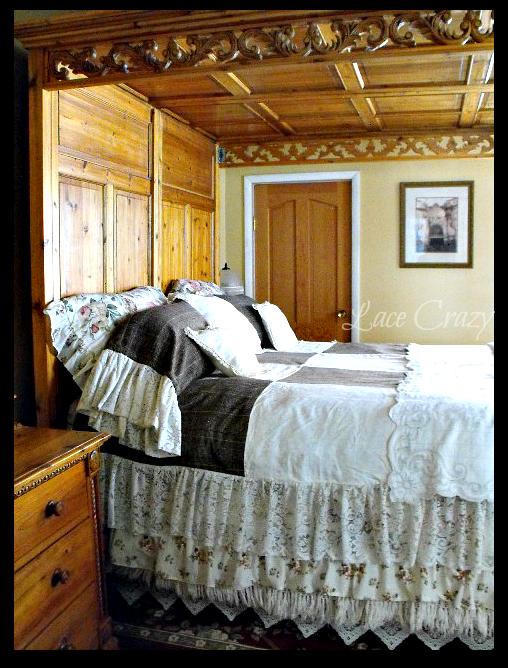 lace crazy linen napkin quilt bedroom set