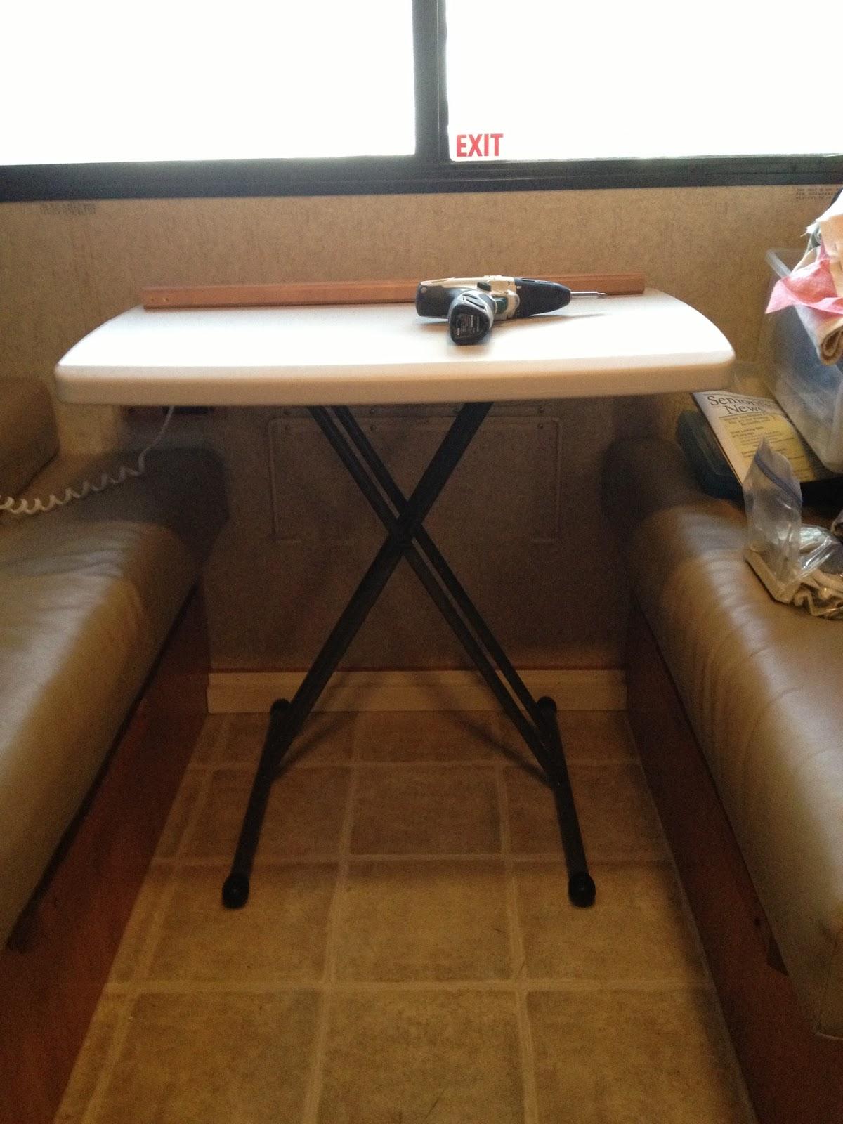 Beautiful Campervan Motorhome Conversion Leg Folding Table 74x59cm  Tables