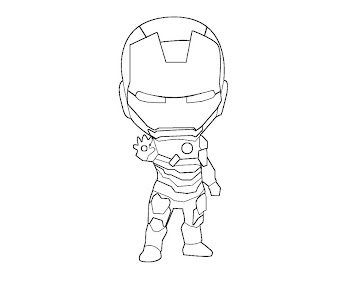#7 Iron Man Coloring Page