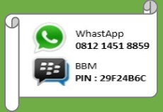 Contact Call / W.A 09:00 - 21:00 WIB