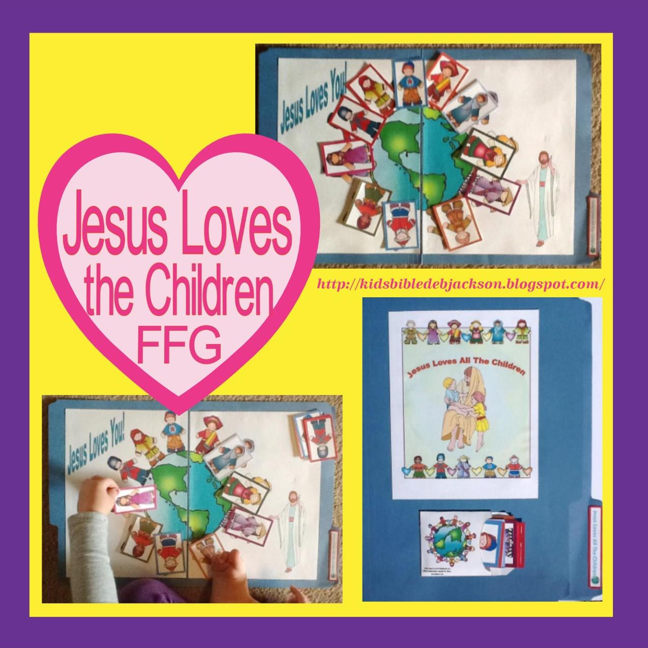 bible fun for kids jesus loves all the children file folder game
