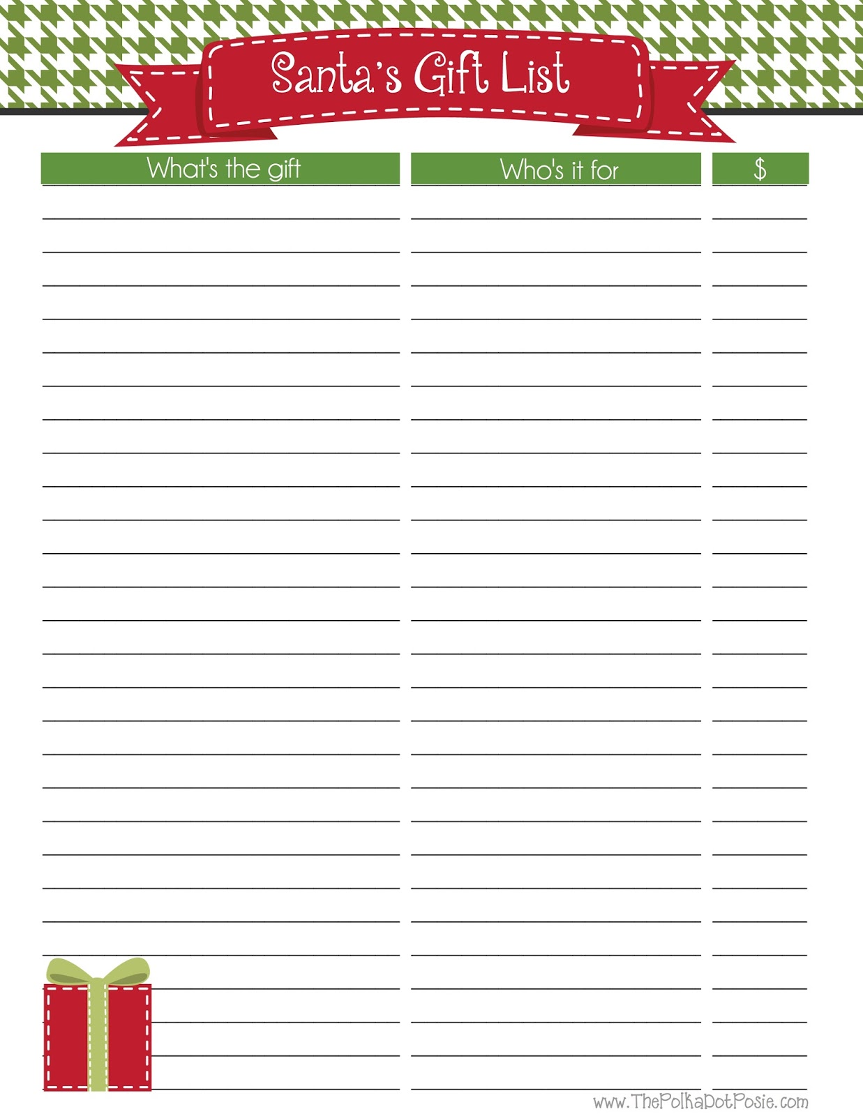 The Polka Dot Posie: Introducing Our NEW Merry Christmas Planner!  Christmas Card List Template