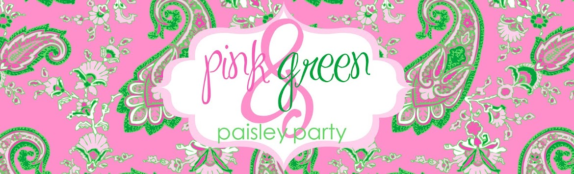 Pink and Green Paisley Party