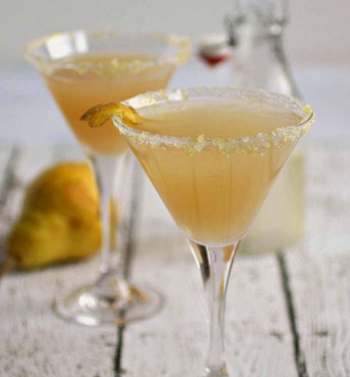 Sparkling Lemon Pear-tini