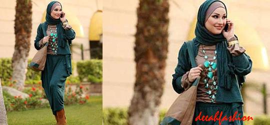 Baju Kerja Modis Modern Hijau Turquoise