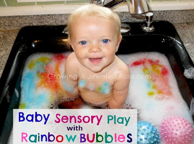 rainbow bubbles play activity