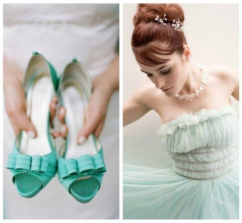 mint wedding shoes