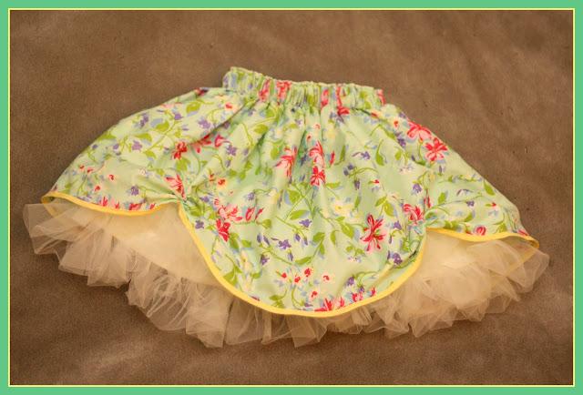layered skirt with pickups