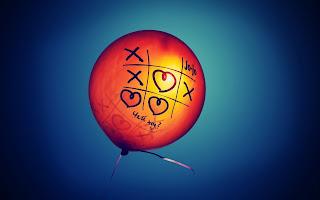 Balloon Heart and X HD Wallpaper