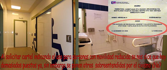 Peticion de Cartel en vestuario PMR