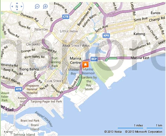 Singapore Flyer Location Map – Tourist Map Of Singapore City