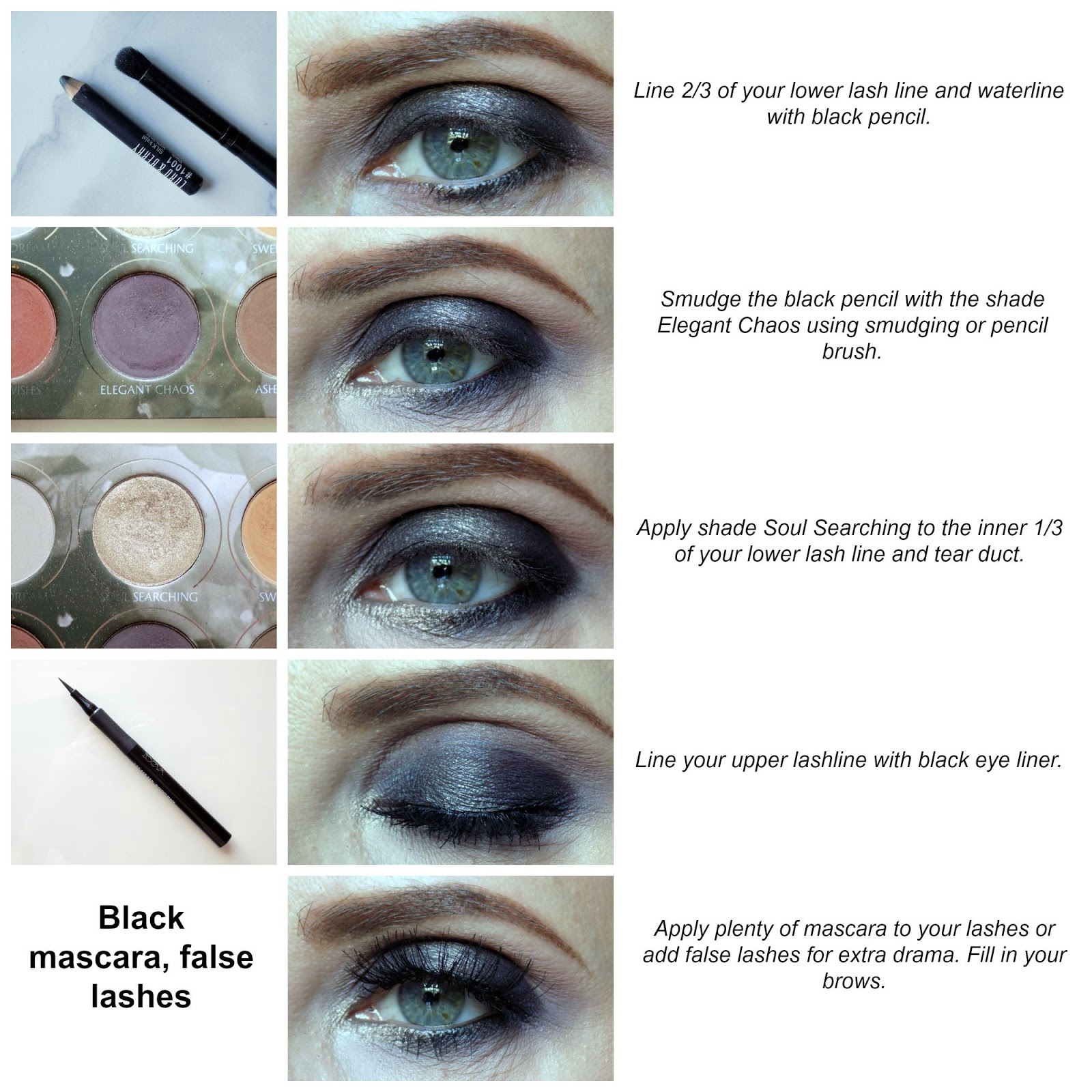 zoeva smokey palette eye look tutorial