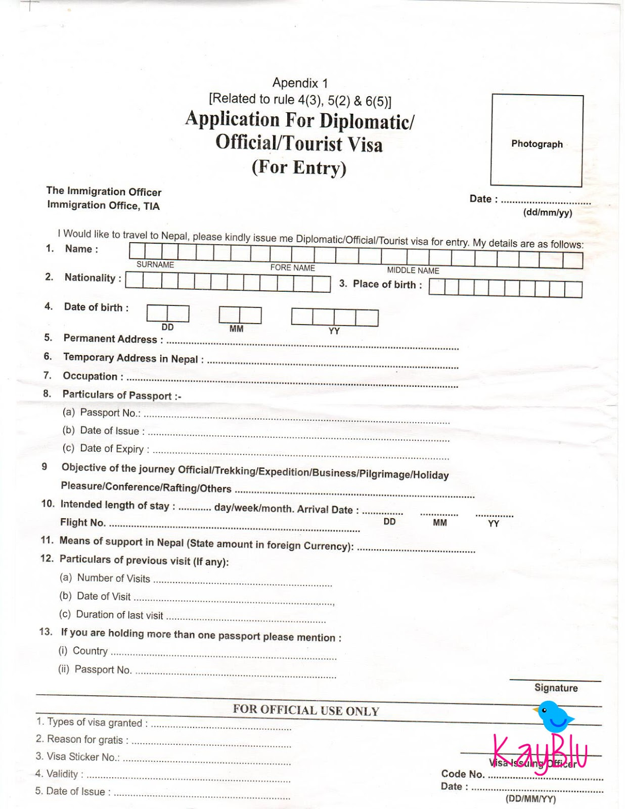 KayBlu Adventure: Nepal Tourist Visa On Arrival For Filipinos on application for absentee ballot, application for birth certificate, application for work permit, application for employment, application for leave of absence, application for social security card, application for naturalization,