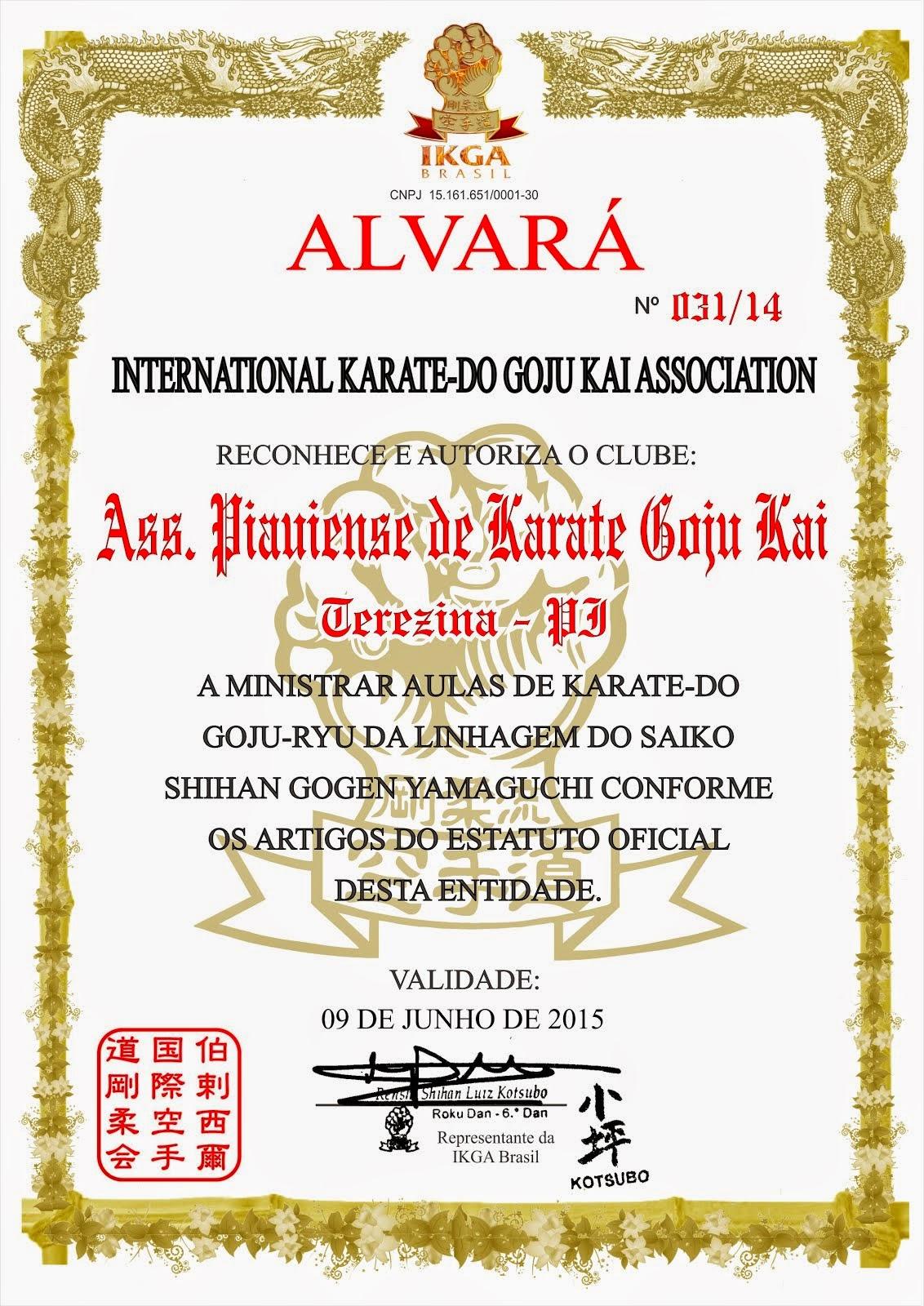 ALVARÁ DE FUNCIONAMENTO - IKGABRASIL