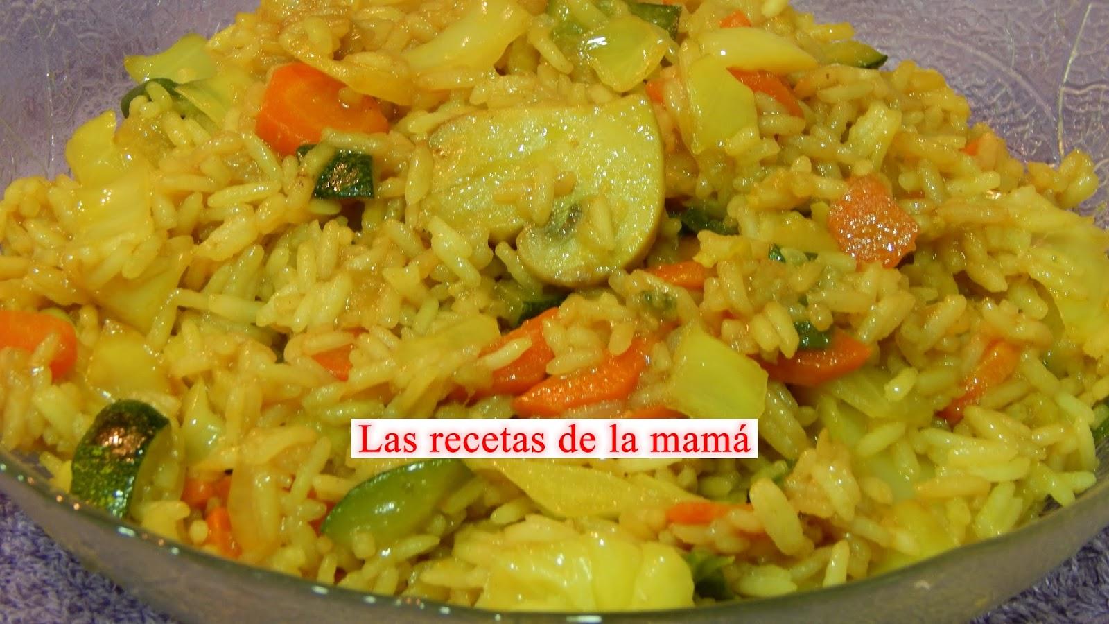 Las recetas de la mam receta f cil de arroz con verduras - Arroz con verduras light ...