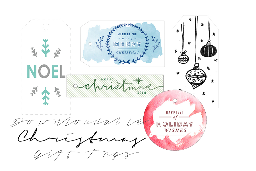 Free Downloadable Christmas Gift Tags