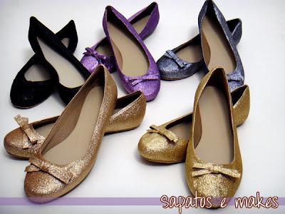 sapatilha com glitter, dourada, preta