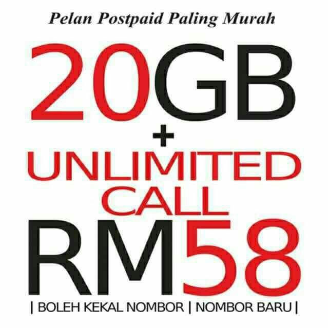 Unlimited Call Plan dan Data 20GB*