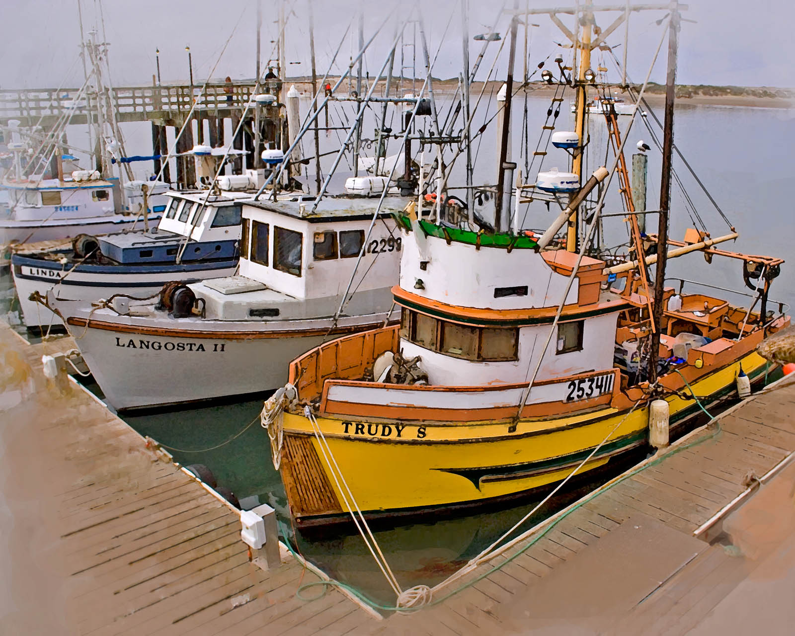 My photos c 402 fishing boats at morro bay ca for Morro bay fishing