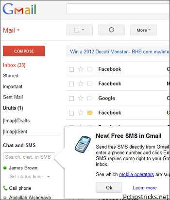 how to send text from gmail to verizon