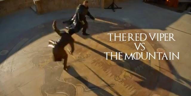 Enfrentamiento entre Oberyn Martell y Gregor Clegane