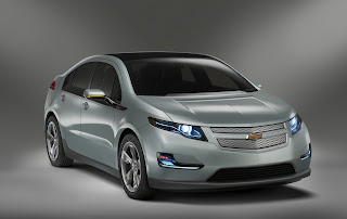 A silver Chevy Volt