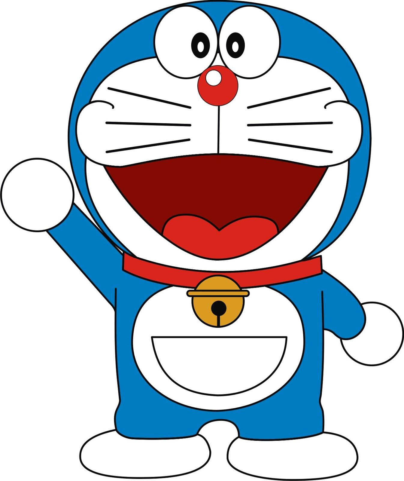 saya sediakan gambar vektor Doraemon, silahkan di download . Trims