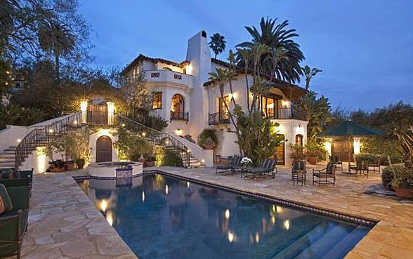 Spanish colonial style mansion of emmy award winning actor hits the