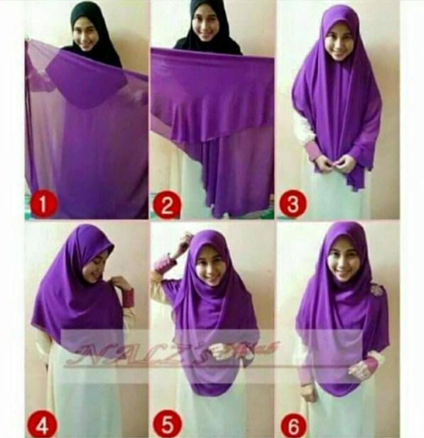 Contoh Jilbab Kaca. cara memakai jilbab segi empat modern ...