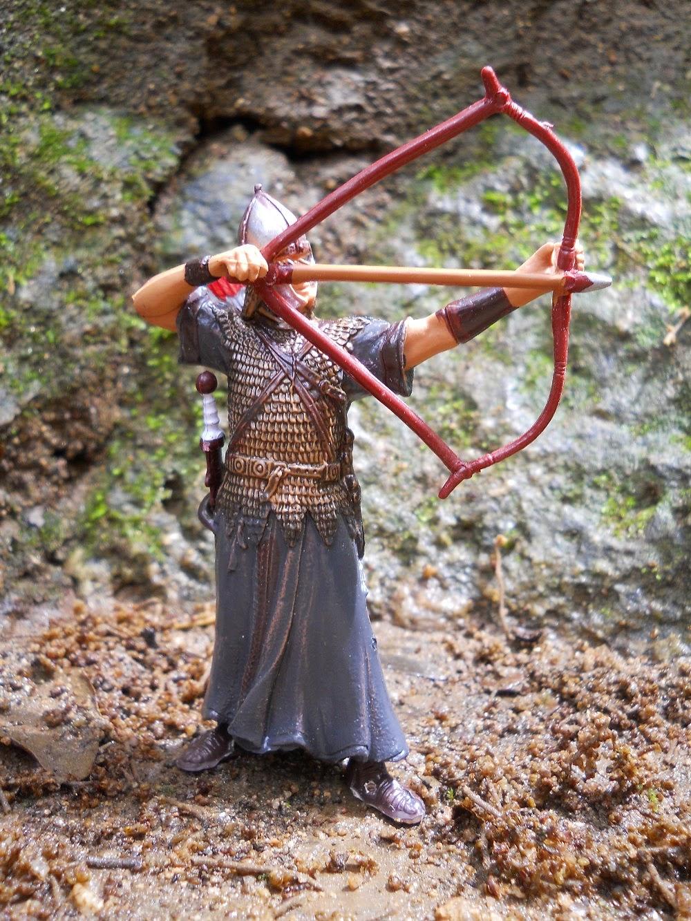 figura a escala de arquero romano