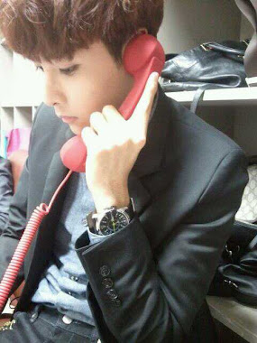 "Ryeowook said "" i'll call you ""  ^^"