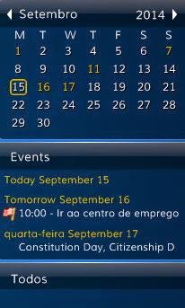 Desktop iCalendar Lite - Interface
