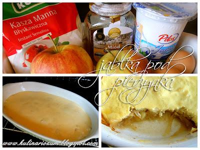 jabłka pod pierzynką, pieczone jabłka, kulinariozum