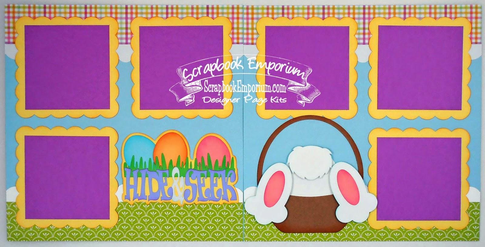 Scrapbook ideas easter - Hide Seek Easter Scrapbook Pages