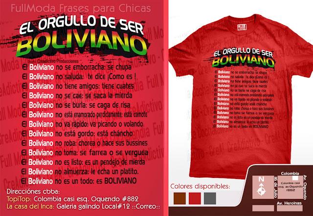 El orgullo de ser Boliviano en Poleras cochalas