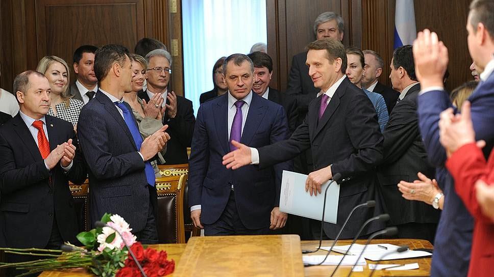 В Москве приняли депутатов из Крыма
