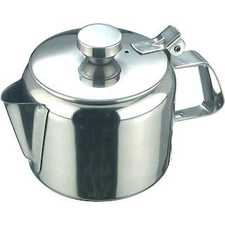 Ceainic cu capac detasabil, model drept realizat din otel inoxidabil Ø 85x(H)85 mm 0.35 Lit