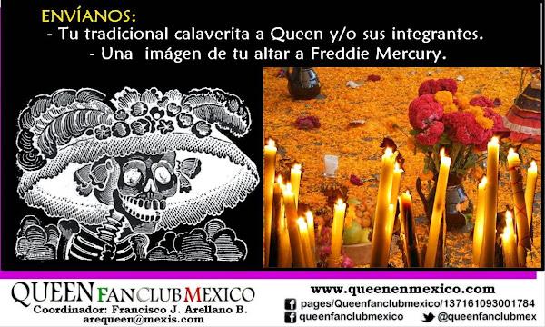 """Envíanos tu """"calaverita"""" para Queen y/o sus integrantes, e imágenes de tu altar a Freddie Mercury"""